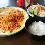 風見鶏 - 料理写真:日替わりスパッゲティランチ550円(税込)。ごはん追加で600円。