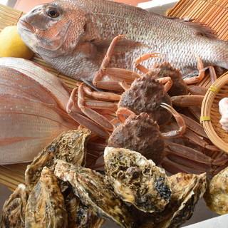 かにきちのこだわりその壱『新鮮な鮮魚たち』