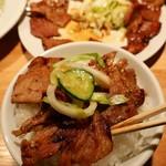 99116066 - 肉大盛り定食(和豚)税込830円