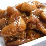 郷家精肉店 - 鶏皮のやわらか煮(100g160円)