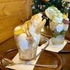 野坂茶屋 - 料理写真:抹茶パフェときな粉と黒蜜のパフェ