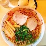 Tsutafuji - 中華そば 並550円、ゆで卵50円