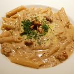 イタリアン食堂 Le gare - くるみとゴルゴンゾーラのクリームペンネ