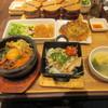 韓美膳 - 料理写真:しばらくすると肉の定番セット1380円の出来上がりです。