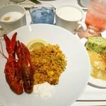 イケア レストラン - ザリガニのパエリア。