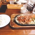 Gurumefuugetsu - ビーフバター焼きライスセット1,240円也〜♪