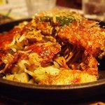 たばさ - 料理写真:サマンサワパー740円(広島焼きの基本)