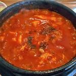 コッテジ - 牡蠣入り豆腐チゲ(激辛)