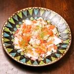 北海タコのマリネ フレッシュトマトとハラペーニョサルサ