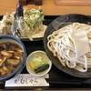 がむしゃら - 料理写真:肉汁うどん 大盛り 天ぷら盛合せ(小)