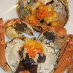 花彫酒家 - 上海蟹メスの卵!