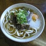 奈良食堂 - 料理写真:ホルモンうどん玉子入り