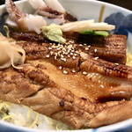 量平寿司 - 穴子丼(さらにお吸い物がつきます)