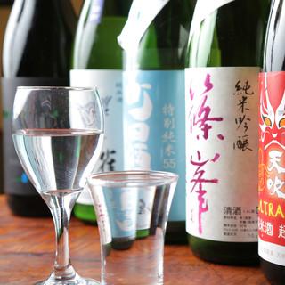 季節に合わせて仕入れる日本酒