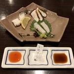 穴子家 NORESORE - 造り 穴子の造り盛り合わせ(湯引き、糸作り、炙り)