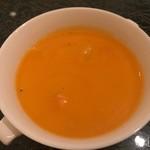 中国料理 「王朝」 - 海鮮入り蟹卵味噌スープ