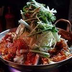 ブリキ屋 - 料理写真:ホルモン鍋(赤)¥1380
