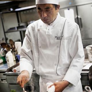 一流レストランで長年経験を積んだシェフが監修する華やかな料理