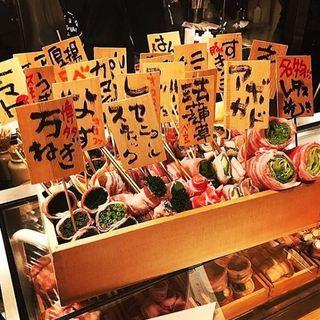 【名物×博多串焼】野菜をたっっっぷり巻いた巻き串