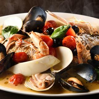 確かな目利きで直接仕入れた鮮魚や野菜を存分に味わうイタリアン