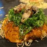 大人のお好み焼き kate-kate - 牡蠣トッピングお好み焼き