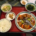 99167286 - 酢豚定食(700円)