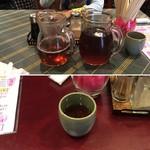 宇宙軒 - お茶(温冷2種類出してくださいました)