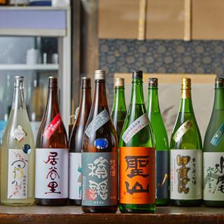 信州地酒と全国銘酒多数。最高の状態でご提供いたします。