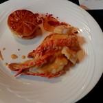 RESTAURANT La Primavera - 魚料理(オニ長手エビとホタテのグリル)