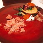 99173207 - ヤイトガツオのカルパッチョ 林檎と和サラダのミッレフォーリエ