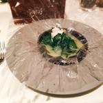 99173208 - クエ 大根と菊菜のカルタファタ