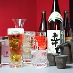 出汁鍋&海鮮の店 門戸 - アルコールは単品でも飲み放題でもOK!