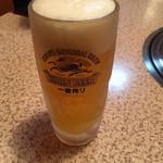 焼肉永楽園 - ドリンク写真:生ビール