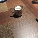 トラットリア ラ ストラーダ - コーヒーのミルク ホットです