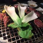 一喜 - 青梗菜は焼きました
