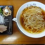 ラーメン専科 竹末食堂 - 会津地鶏の中華そば(醤油)