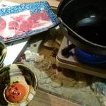 99190115 - 黒毛和牛のすきしゃぶ~黒トリュフ香る卵と一緒に~