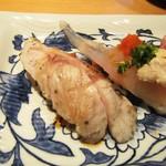 寿司栄 華やぎ - ノドグロ炙り。