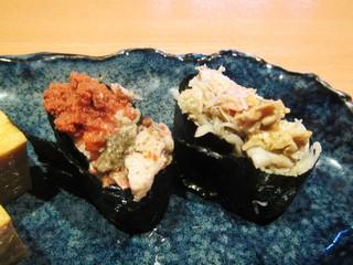 寿司栄 華やぎ - 香箱蟹・蟹。