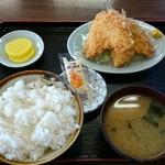 よし尾 - 魚フライ定食 650円