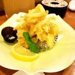 日本料理 空海 - 白魚の天婦羅 大きい白魚でした