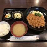 直ちゃん - チキン南蛮定食(ライス小)850円