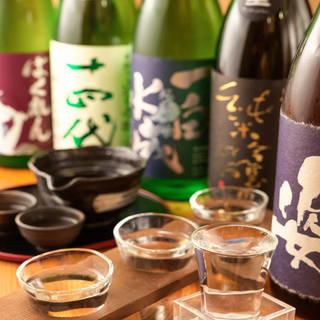 サワーやカクテルはもちろん、日本酒や焼酎も多数ご用意。