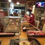 インド料理店グローリー&バー - 店内(カウンター席から)
