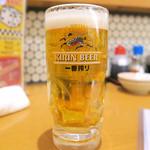 チバラキ伸太郎酒場 - ドリンク写真:生中(一番絞り)450円