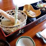 倉敷甲羅本店 - かに雑炊御膳の天ぷら