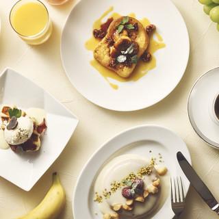 こだわりの朝食で優雅な時間