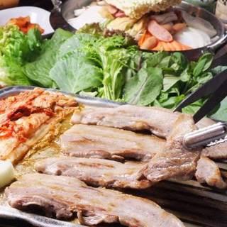 韓国風ではない、韓国正統サムギョプサルサムパ