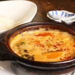 カフェー 天Q まつ井食堂 - カンボジアカレーライス850円