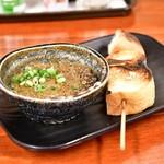 西口やきとん - 炙りカニ味噌 バゲット付@400円